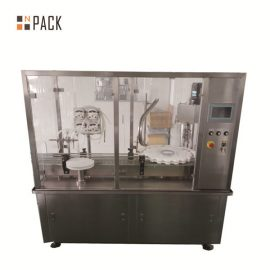 प्रसाधन सामग्री उद्योग के लिए 10 जी -100 ग्राम लोशन क्रीम जार भरना और कैपिंग मशीन