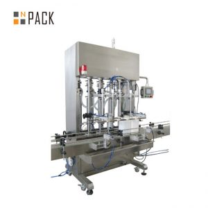 500ml-5L ऑटोमैटिक 6 हेड्स पेस्ट फिलिंग मशीन विथ सर्वो सिस्टम विथ क्रीम विद कन्वर्टर पीएलसी कंट्रोल