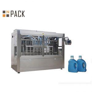 स्वचालित तरल डिटर्जेंट भरने की मशीन, पिस्टन भराव के साथ तरल साबुन भरने की लाइन