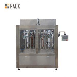 रेखीय 1-5L क्लीनर भरने और पैकेजिंग मशीन डाइविंग भरने नोजल के साथ