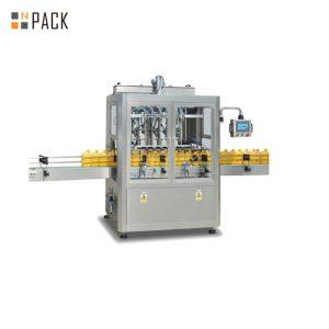 सर्वो भराव 3000 बी / एच बड़ी क्षमता के साथ 8 प्रमुख डिशवॉशिंग पिस्टन भरने की मशीन