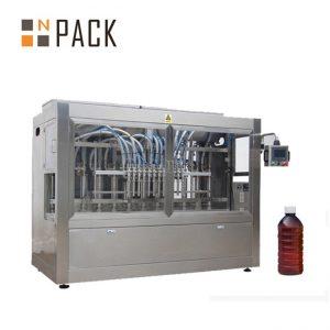रसायन / उर्वरक / कीटनाशक के लिए रैखिक 8 प्रमुख ऑटो तरल भरने की मशीन