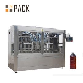 कीटनाशक के लिए अर्ध स्वचालित तरल भरने की मशीन / समय गुरुत्वाकर्षण बोतल भराव