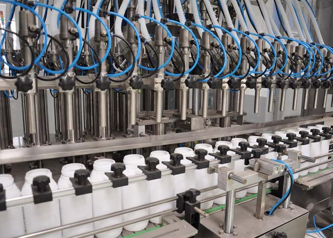 उच्च उत्पादन क्षमता के साथ पीएलसी कंट्रोल लॉन्ड्री डिटर्जेंट फिलिंग मशीन लाइन