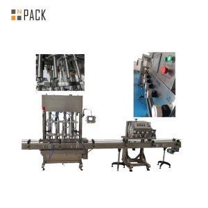 रोटरी कैपिंग इलेक्ट्रिक आरओपीपी कैपिंग मशीन 6 प्रमुखों के लिए एल्यूमीनियम कैप की बोतलें