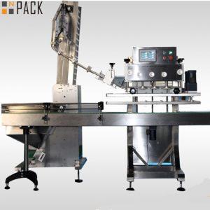 50 मिलीलीटर -1 एल कीटनाशक बोतलों 120 सीपीएम के लिए उच्च योग्य दर रोटरी बोतल कैपिंग मशीन